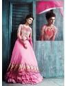 Marvelous PinkGeorgetteNet Anarkali Suit