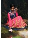 Invigorating Pink Net Wedding Lehenga Choli