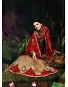 Gorgeous Orange Net Bridal Lehenga Choli