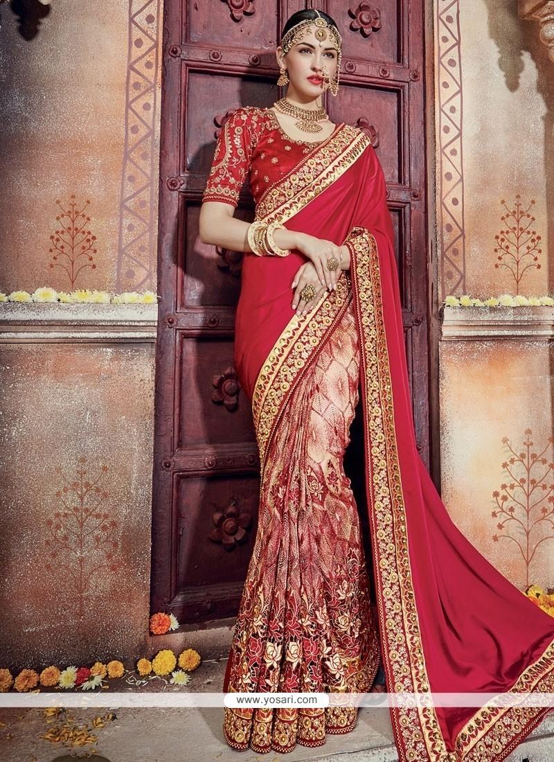 3ad7afebd3 Buy Lively Georgette Designer Bridal Sarees | Wedding Sarees