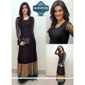 Kriti Sanon Style Black Net Long Gown