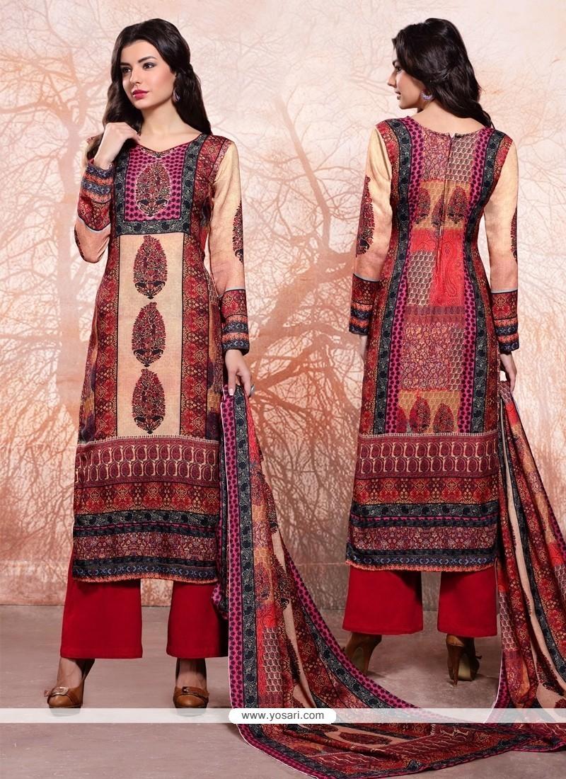 905d307b3a2 Buy Zesty Multi Colour Designer Palazzo Salwar Kameez