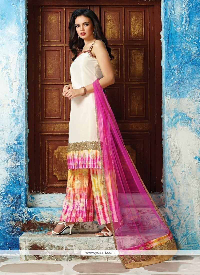 5a24070340 Buy Honourable Raw Silk Embroidered Work Readymade Designer Suit ...