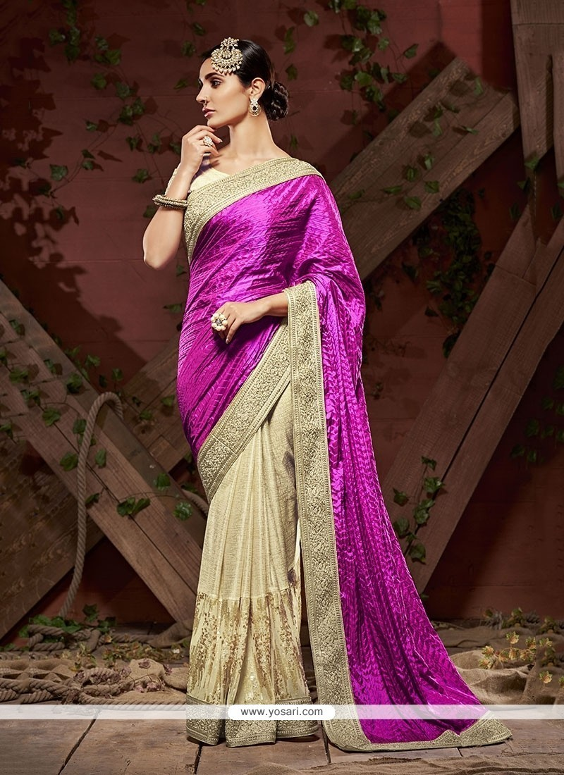 43845b867 Buy Royal Beige Patch Border Work Classic Designer Saree