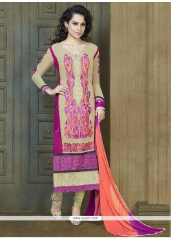 Georgette MultiColor Churidar Suit