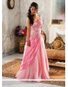 Natural Pink Net Designer Readymade Gown
