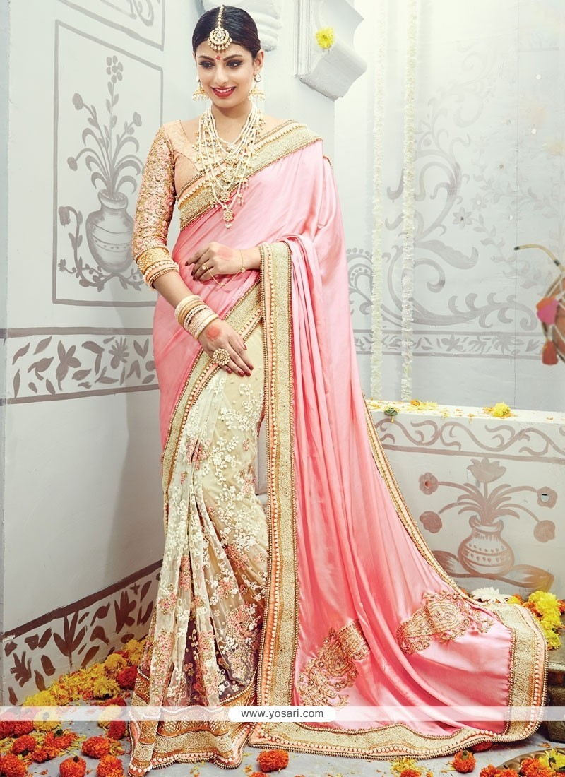 Absorbing Embroidered Work Designer Traditional Sarees