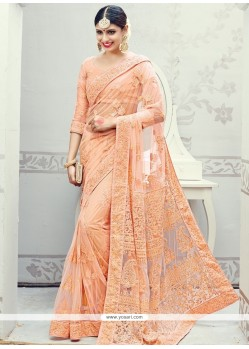 Appealing Embroidered Work Net Classic Designer Saree