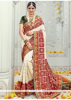 Majesty Banarasi Silk Patch Border Work Designer Traditional Sarees
