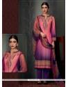 Distinctively Pashmina Multi Colour Designer Straight Salwar Kameez