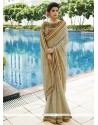 Aspiring Tussar Silk Beige Traditional Saree