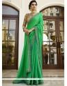 Green Embroidered Work Art Silk Designer Traditional Sarees