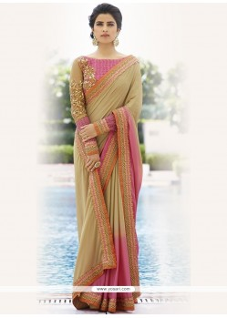 Mesmeric Fancy Fabric Embroidered Work Trendy Saree