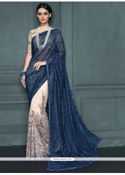 Gripping Embroidered Work Traditional Designer Sarees