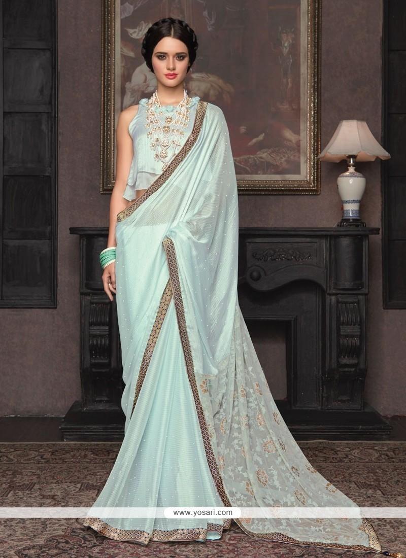 Majesty Blue Traditional Saree
