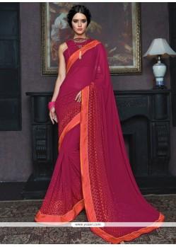 Dashing Georgette Magenta Classic Designer Saree