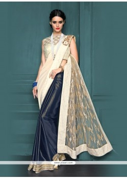 Girlish Embroidered Work Net Designer Traditional Sarees