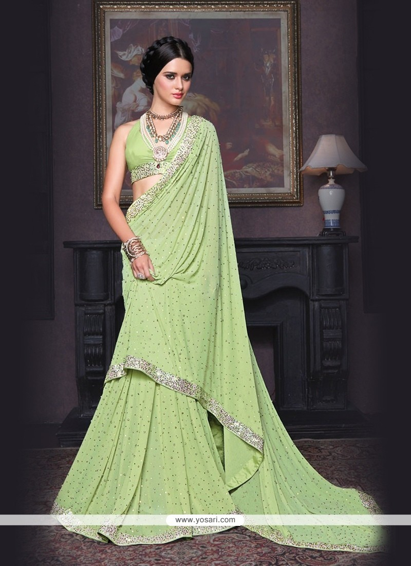 Eye-catchy Georgette Classic Saree