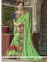 Snazzy Silk Embroidered Work Designer Saree