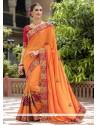 Orphic Orange Designer Saree