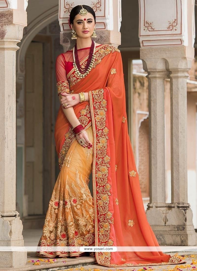 Celestial Silk Resham Work Designer Saree