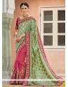 Dilettante Green Jacquard Designer Saree