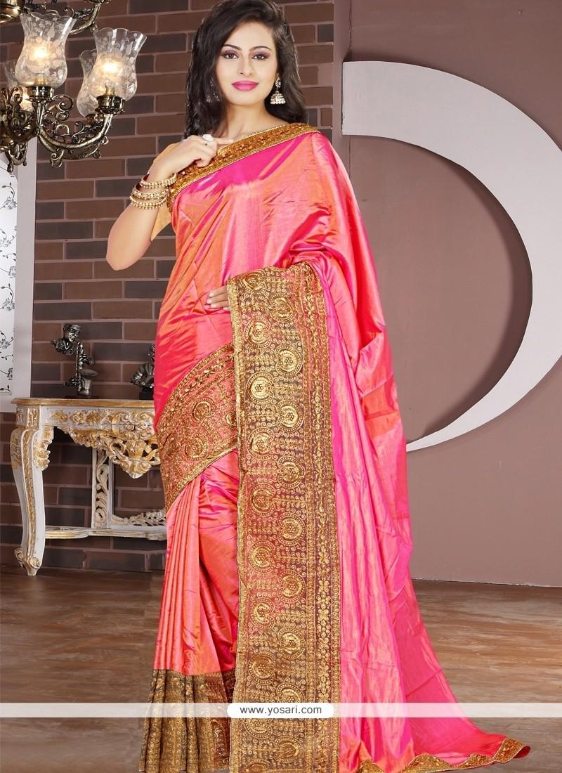 Delightsome Lace Work Designer Saree
