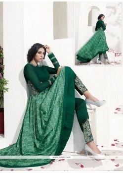 Lavish Green Digital Print Work Georgette Anarkali Salwar Suit