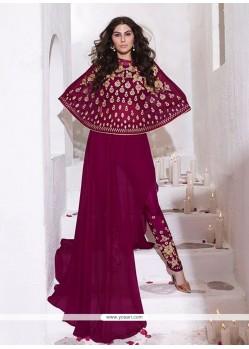 Dainty Georgette Resham Work Designer Salwar Kameez