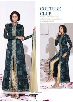 Mod Embroidered Work Designer Salwar Kameez