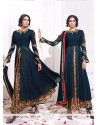 Blissful Embroidered Work Georgette Anarkali Suit