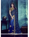 Cute Navy Blue Traditional Saree