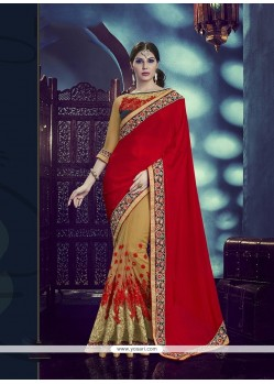 Modern Faux Chiffon Embroidered Work Designer Traditional Sarees