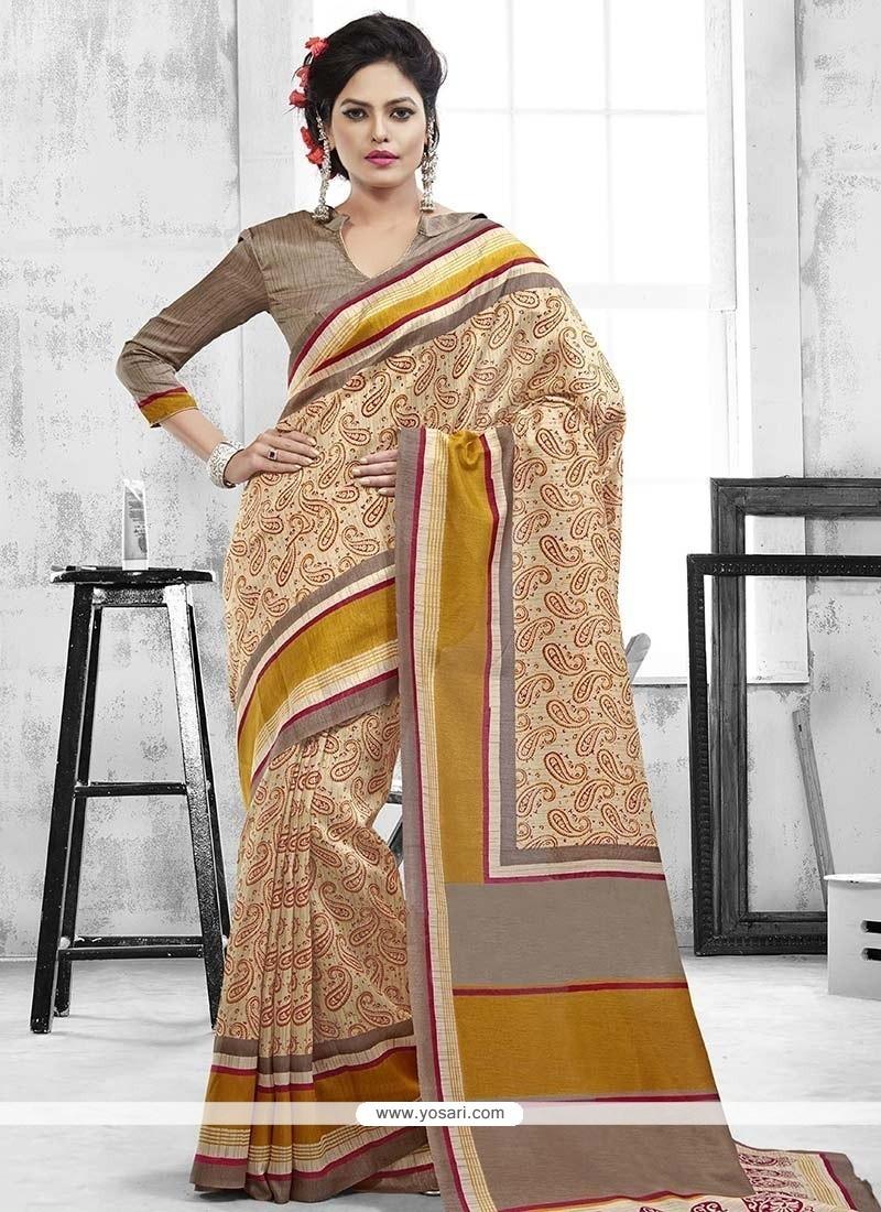Sonorous Art Silk Print Work Casual Saree