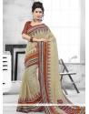 Imposing Art Silk Print Work Casual Saree