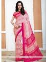 Spellbinding Pink Casual Saree
