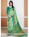 Delightful Print Work Crepe Silk Casual Saree