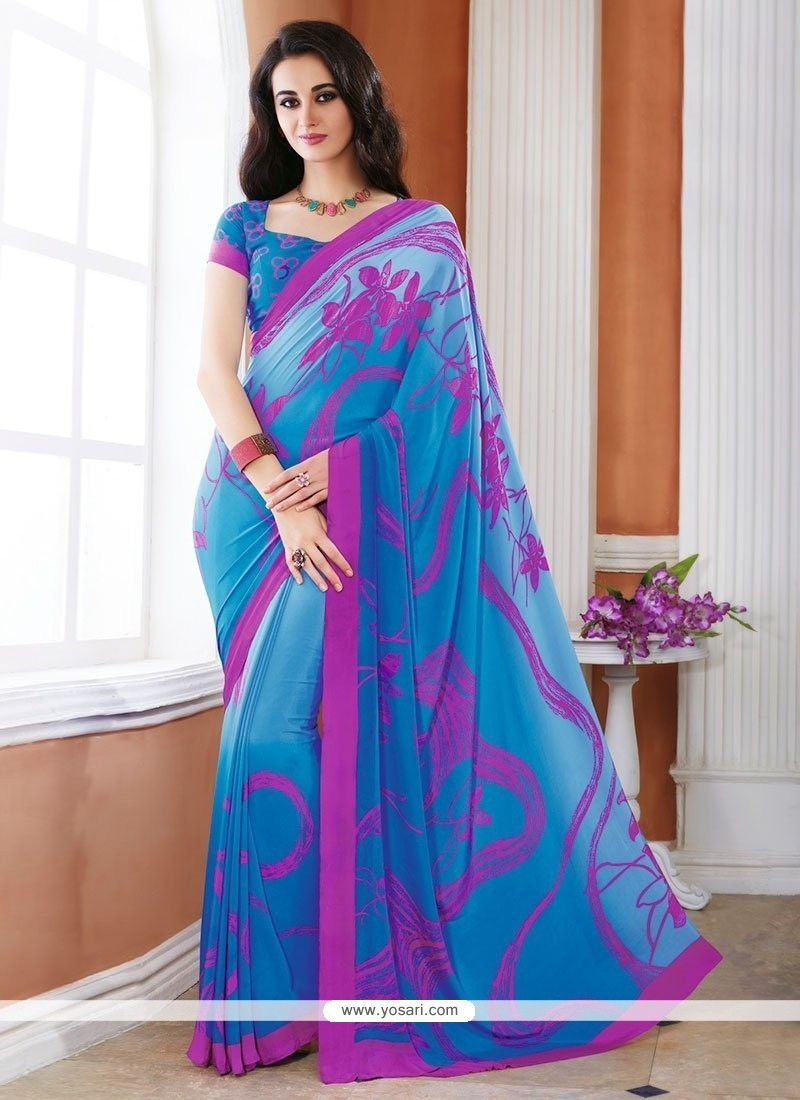 Imposing Print Work Casual Saree