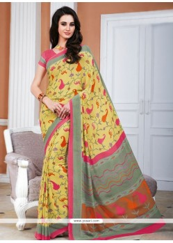 Glowing Multi Colour Casual Saree