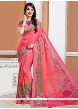 Mesmeric Pink Casual Saree