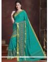 Gleaming Sea Green Classic Designer Saree