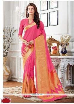 Appealing Raw Silk Designer Saree