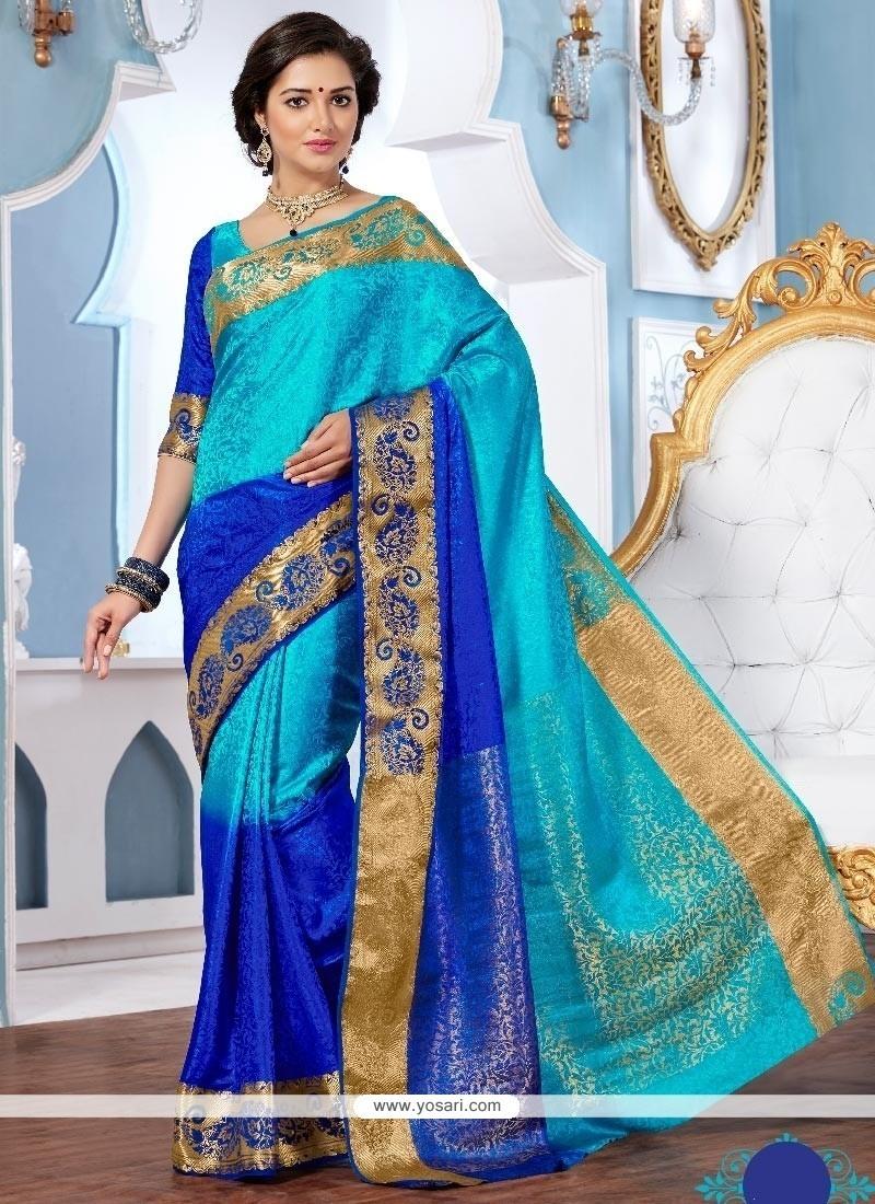 Invigorating Jacquard Multi Colour Designer Saree