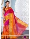 Amazing Jacquard Multi Colour Designer Saree