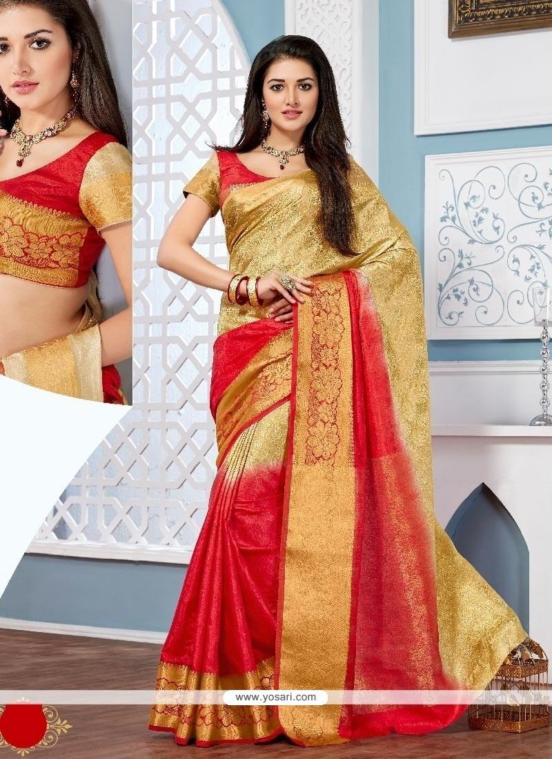Beautiful Patch Border Work Multi Colour Designer Saree