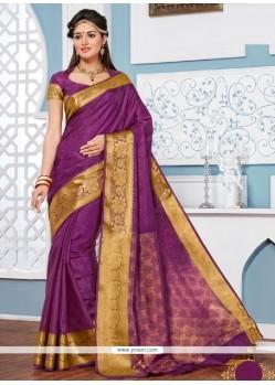 Trendy Multi Colour Jacquard Designer Saree