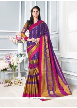 Peppy Patch Border Work Cotton Traditional Saree