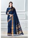 Flawless Cotton Navy Blue Classic Saree