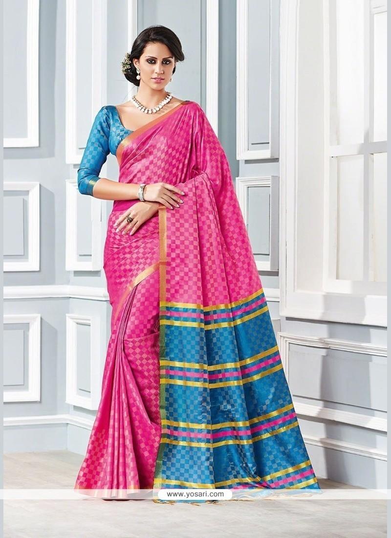 Glamorous Cotton Patch Border Work Traditional Saree