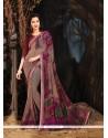 Thrilling Multi Colour Georgette Printed Saree